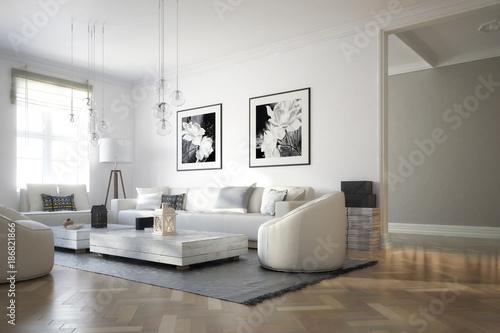 Fotografia  Raumadaptation: Wohnzimmer (Konzept)