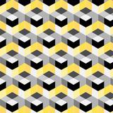 abstrakcyjny wzór kostki. Kolorowy projekt, geometryczna 3d wektorowa tapeta, sześcianu tło wzór. - 186823268