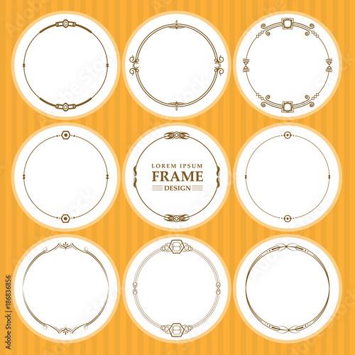 Vector round frames set design element Poster