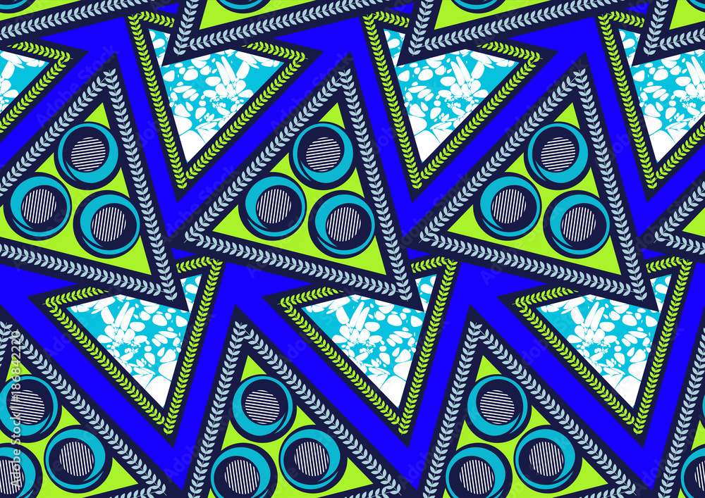 Fototapeta Textile fashion african print fabric super wax