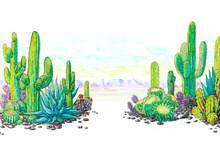 Watercolor Painted Landscape O...
