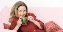 Reife Ganz Gesund Mit Frischem Tee