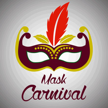 Mask Carnival For Party Decora...