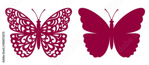 Obraz na plátně  Butterfly For Laser Cutting