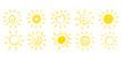 Ręcznie rysowane słońce