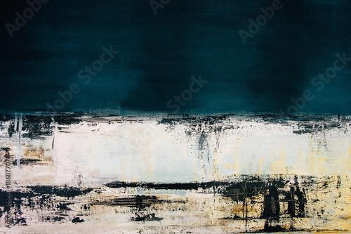 Fototapeta abstract blue acrylic painting on canvas obraz