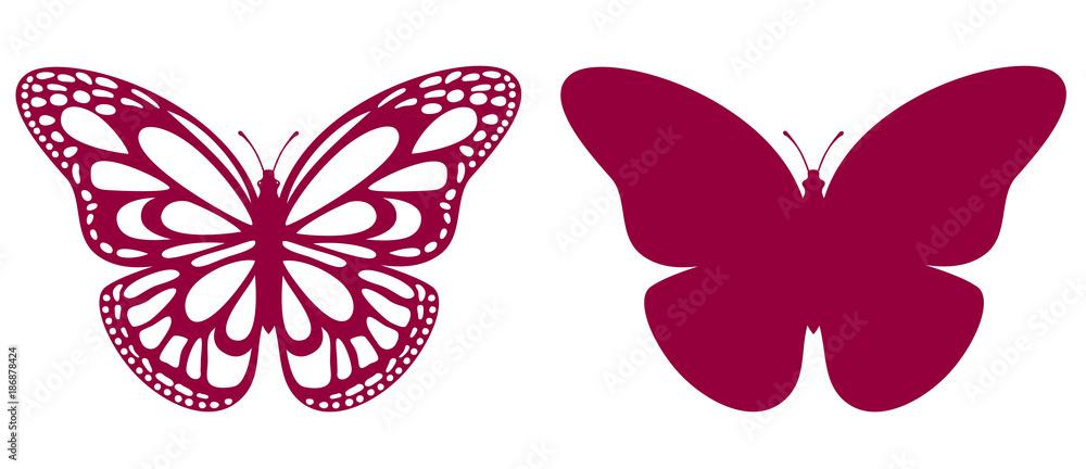 Fototapeta  Butterfly For Laser Cutting