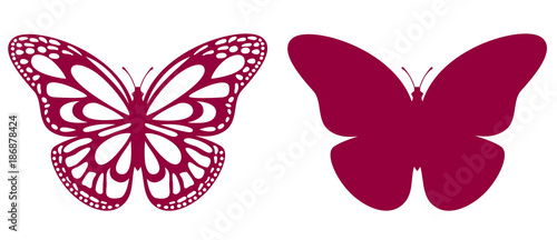Butterfly For Laser Cutting Canvas Print