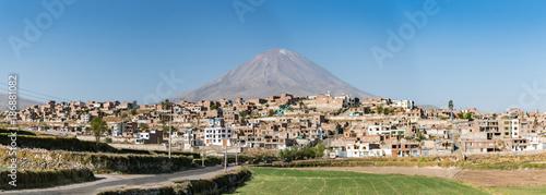 Photo El Misti volcano above Arequipa, Peru