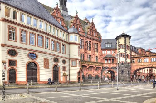 Poster Artistique Frankfurt am Main. Historical center
