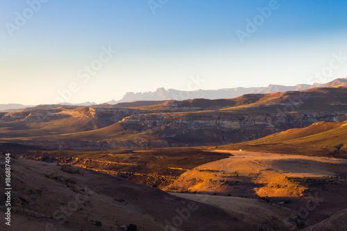 Printed kitchen splashbacks Cappuccino Golden Gate Highlands National Park panorama, South Africa