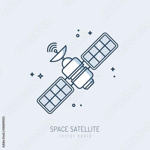 Photo  Satellite icon vector monoline illustration