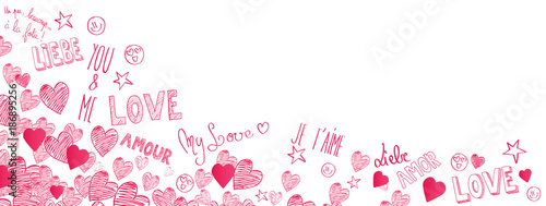 Foto Love doodles background