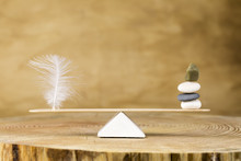 Balance And Feather Zen Stone