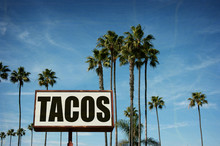 Aged And Worn Tacos Sign With ...