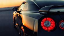 Auto Im Sonnenuntergang