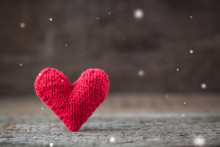 Handmade Red Knitted Valentine...