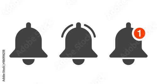 Fototapeta Notification icon vector, material design, Social Media element, User Interface sign, EPS, UI, Image, Illustration