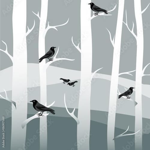 zimowe-drzewa-z-czarnymi-krukami