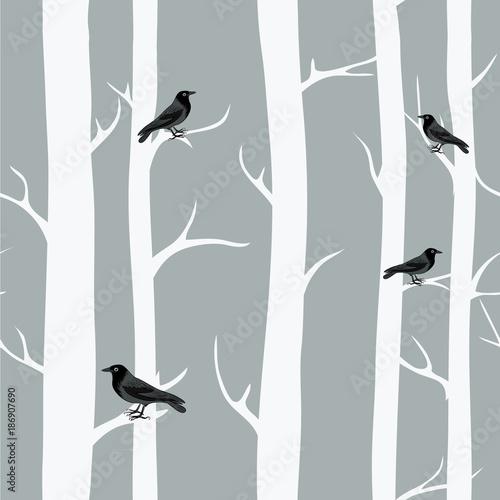 zimowe-drzewa-z-czarnymi-krukami-wzor