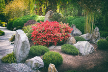 Japanese Garden Wit Big Stones...