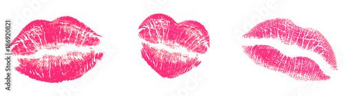 Kuss Abdrücke, Pink Tableau sur Toile