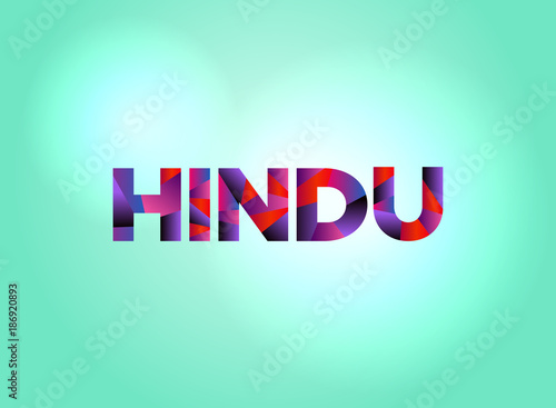 Hindu Concept Colorful Word Art Tablou Canvas