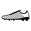 Football boots icon, simple black style