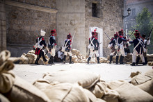 Napoleonic Troop Attacking