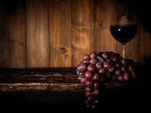 Still Life Of Grapes With Grap...