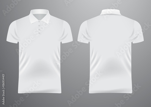 Blank White T Shirt Template Vector Illustration