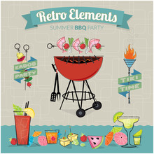 Retro Elements BBQ Party
