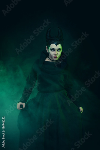 Maleficent demonic - starring Canvas Print