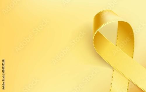 Obraz na plátne  Childhood Cancer Awareness Ribbon