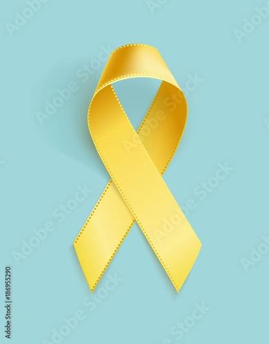 Fotografía  Childhood Cancer Awareness Ribbon