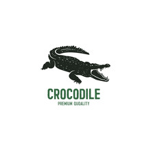 Crocodile Logo Template. Symbo...