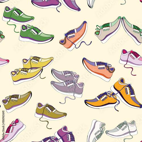kolorowe-trampki-bezszwowy-wzor-ilustracja-wektorowa-na-jasnozoltym-tle