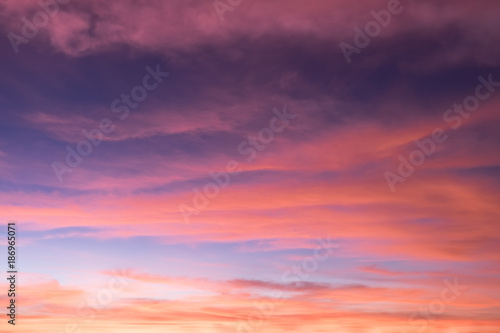 Fototapety, obrazy: Bright colors in a beautiful sky background