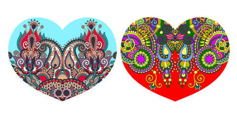ornamental floral heart shape to valentines day design