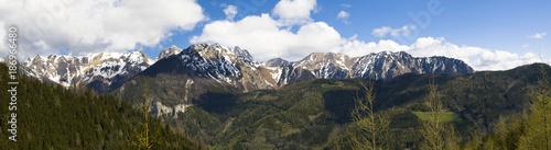 Austria, Styria, Panorama of Eisenerz Alps, mountain massif Reiting