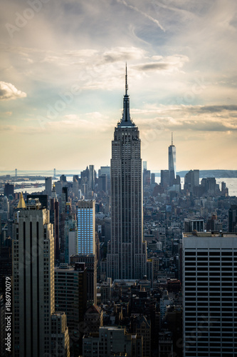 USA, New York City, Manhattan view to Empire State Building