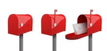 A Set Of Mailboxes With A Clos...