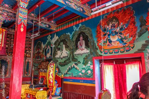 Tuinposter Imagination Buddhist temple, Nepal, Annapurna