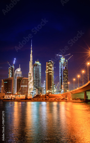 Poster Moyen-Orient Dubai downtown skyline