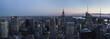 USA, New York State, New York City, Manhattan, Skyline at sunset