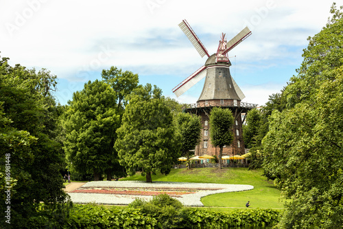 Foto op Aluminium Oude gebouw Germany, Bremen, old wind mill