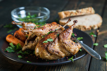 Fried Quail With Carrots And F...
