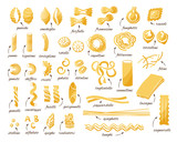 Pasta collection. Set of different type of pasta. - 186987062