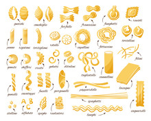 Pasta Collection. Set Of Diffe...