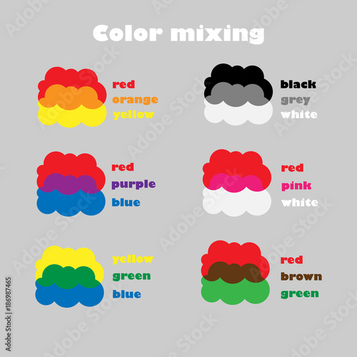 Learning colors mixing for children, fun education game for ...